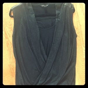 Sleeveless black women's Rock and Republic blouse
